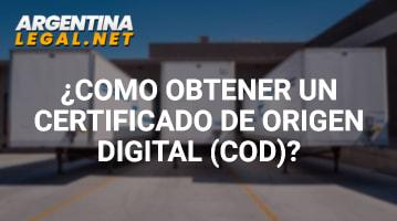 Certificado de Origen Digital