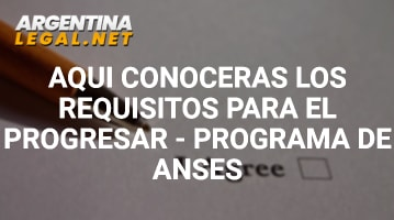 Requisitos para el progresar