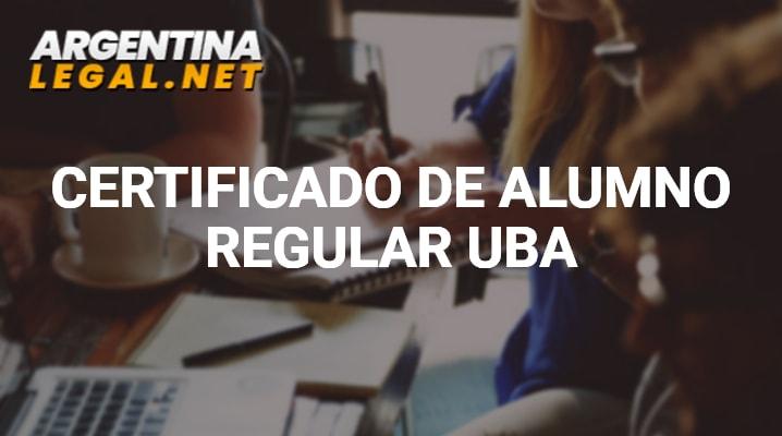 Certificado de alumno regular UBA