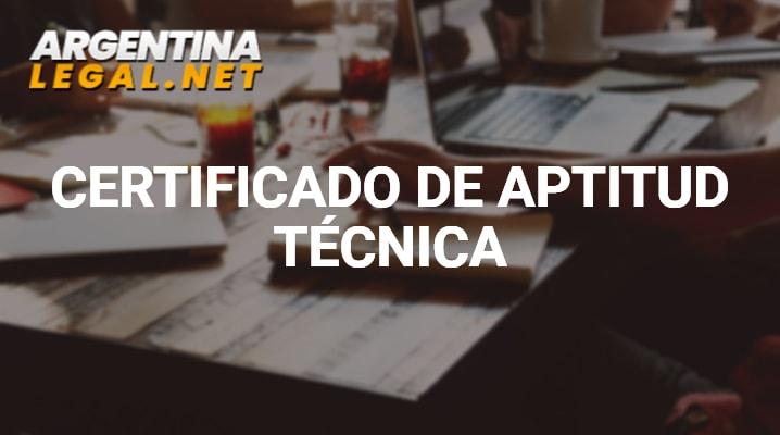 Certificado de aptitud técnica