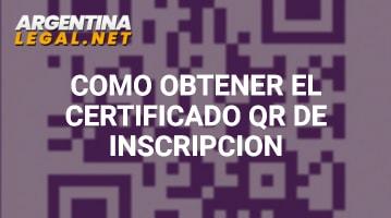 Cómo Obtener El Certificado QR De Inscripción