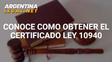 Conoce Cómo Obtener El Certificado Ley 10490