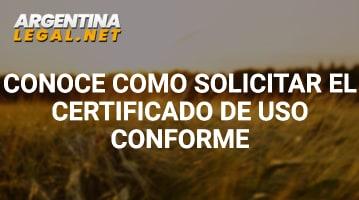 Certificado de uso conforme