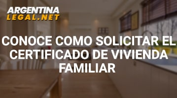 Certificado de vivienda familiar