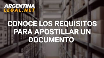 Requisitos para apostillar un documento