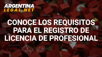Requisitos para el registro