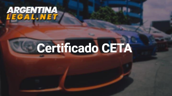 Como Obtener El Certificado CETA – Certificado De Transferencia De Automotores