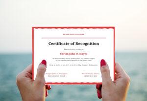 Certificado Reconocimiento