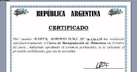Certificado de Manipulación de Alimentos5 Obtén El Certificado De Manipulación De Alimentos En Argentina