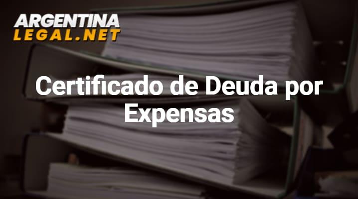Como Solicitar el Certificado de Deuda por Expensas