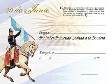 Certificado de promesa a la bandera argentina para imprimir4 Como Obtener Un Certificado De Promesa A La Bandera Argentina Para Imprimir