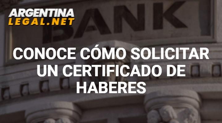 Certificado de Haberes