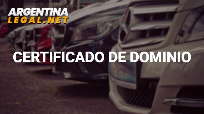 Obtén Un Certificado De Dominio Del Automotor O De Un Bien Inmueble