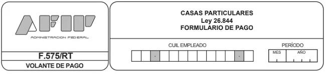 Formulario 575 RT para el Pago Voluntario de Empleada Doméstica - AFIP