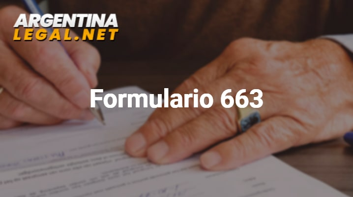 Formulario 663 Para Solicitud De CDI (Clave De Identificación) AFIP