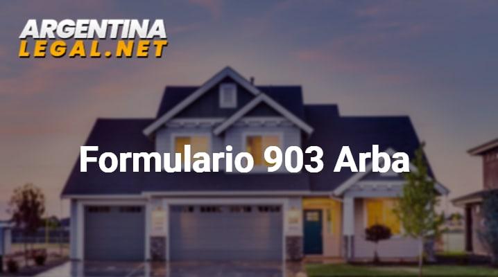 Formulario 903 Arba