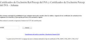 Consultar Certificado De Exclusión Del IVA