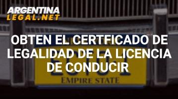 Obtén El Certificado De Legalidad De La Licencia De Conducir
