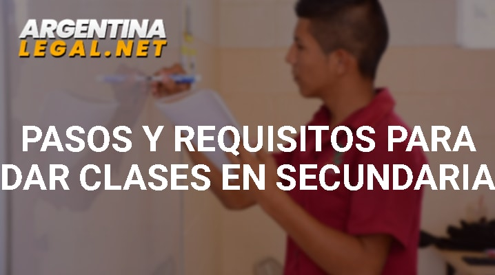 Pasos Y Requisitos Para Dar Clases En Secundaria