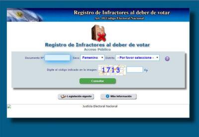 Registro de Infractores al Deber de Votar