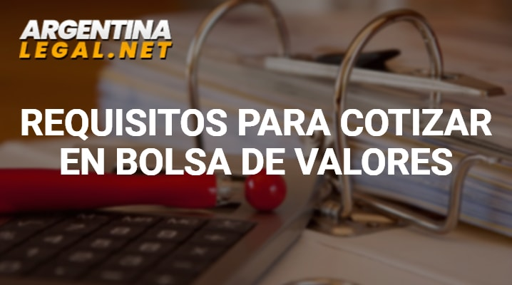 Requisitos para cotizar en bolsa