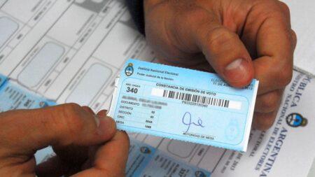 multa por no votar