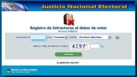 registro de infractores