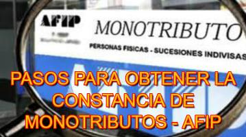 Cómo Obtener La Constancia O Certificado De Monotributo – AFIP