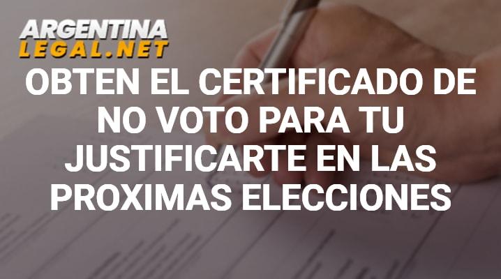 Certificado de no voto