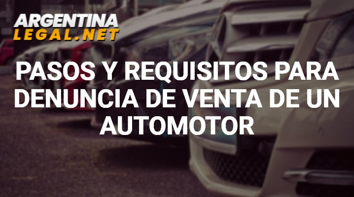 Requisitos para denuncia de venta