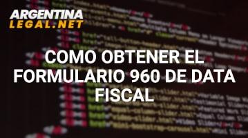 Cómo Obtener El Formulario 960 De Data Fiscal