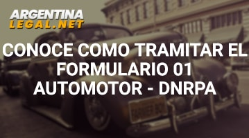 Conoce Cómo Tramitar El Formulario 01 Automotor – DNRPA