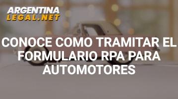 Conoce Cómo Tramitar El Formulario RPA Para Automotores