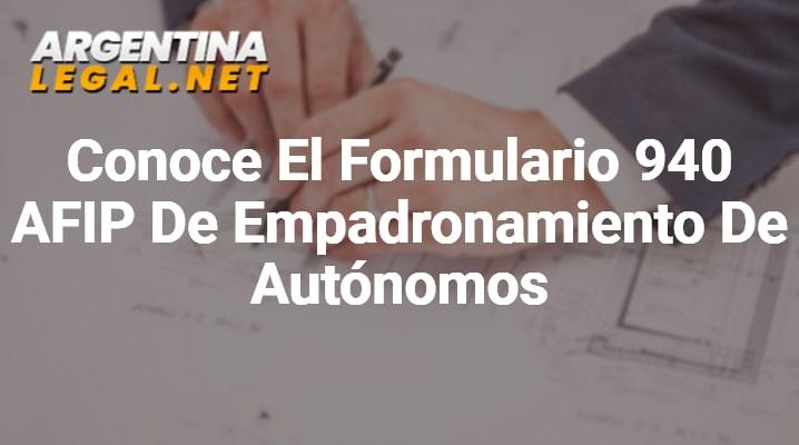 Formulario 940 AFIP