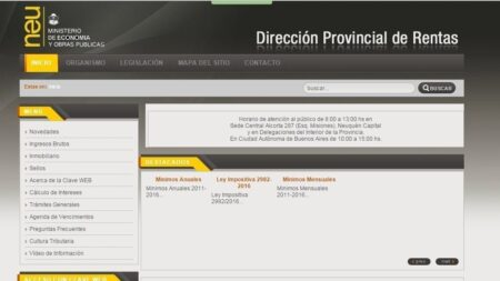 Dirección de la Provincia de las Rentas