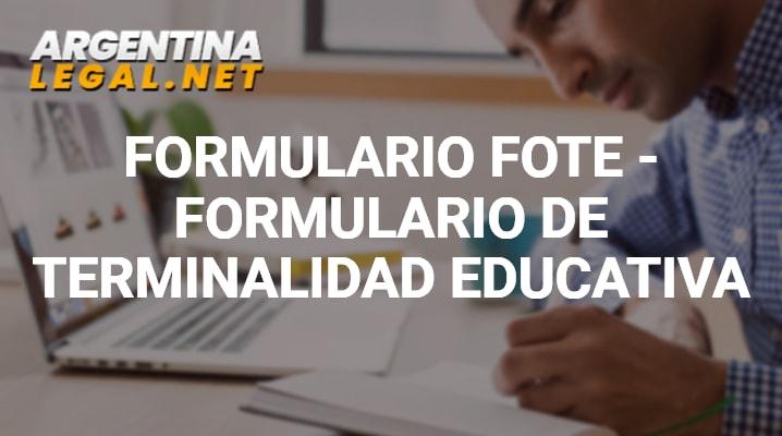 Formulario FOTE