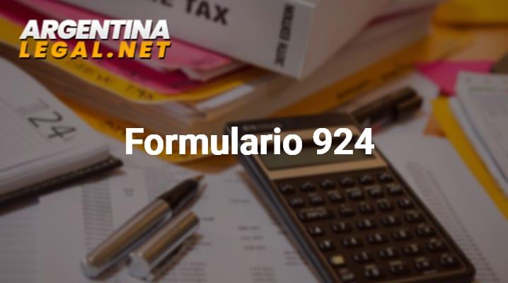 Como Completar El Formulario 924 De Tasas Retributivas De Servicios