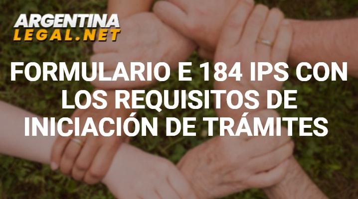 Formulario E 184 IPS