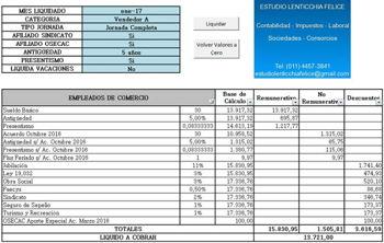 Modelo De Planilla Liquidación De Sueldo