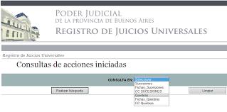Registro de los juicios universales
