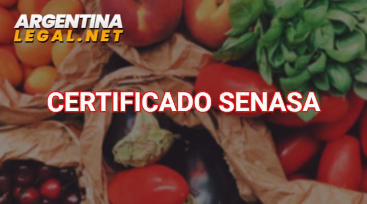 Certificado SENASA
