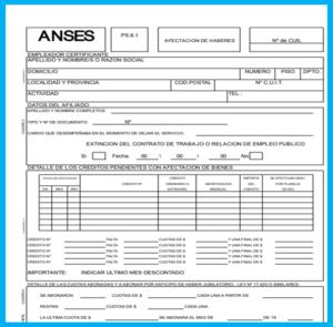 formulario 6.1 anses para la afectacion de haberes ¿Cómo Presentar El Formulario 6.1 ANSES Para La Afectación De Haberes?