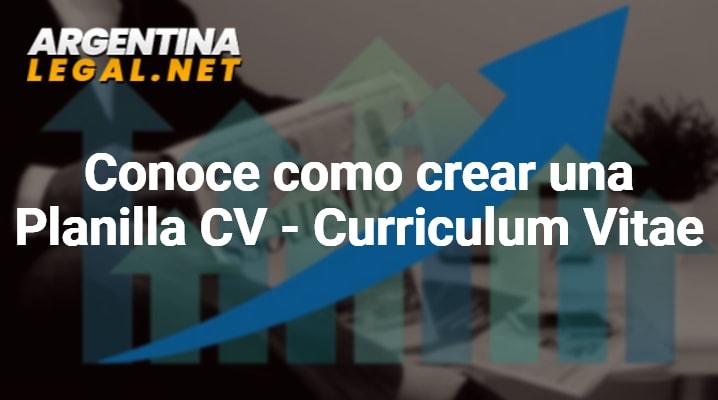 Conoce Como Crear Una Planilla CV – Curriculum Vitae