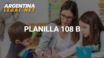 Planilla 108 B – Declaración Jurada Listado 108 B Complementario