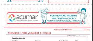 cuestionario Descarga La Planilla PRUNAPE Para Realizar Prueba Nacional De Pesquisa
